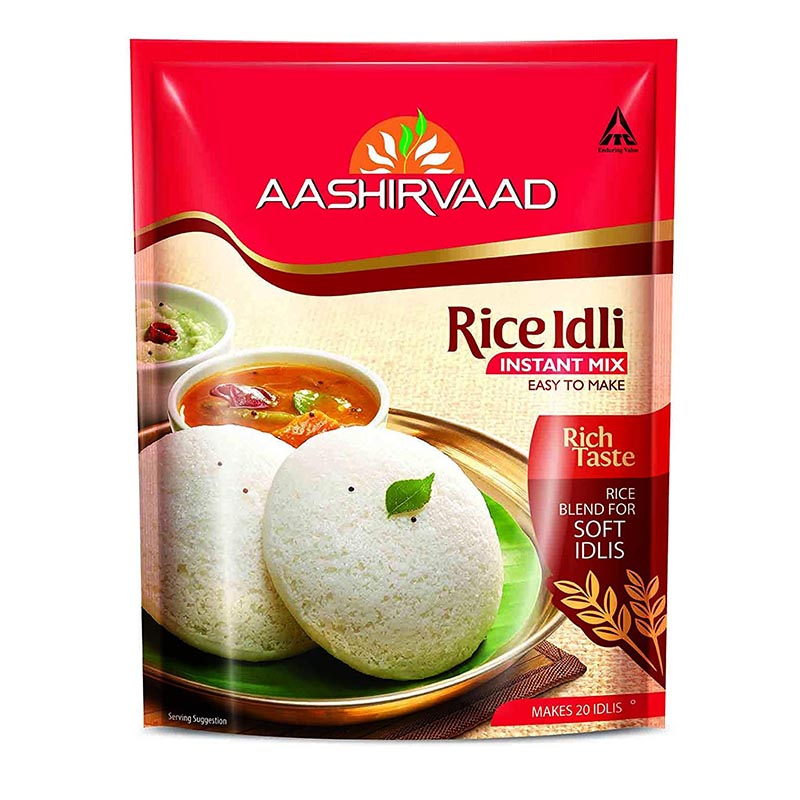 Ready to Cook & Eat, Aashirvaad Rice Idli Instant Mix - 200gm Pouch
