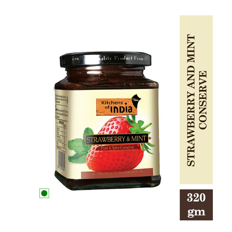 Kitchens of India Strawberry and Mint Conserve - 320gm