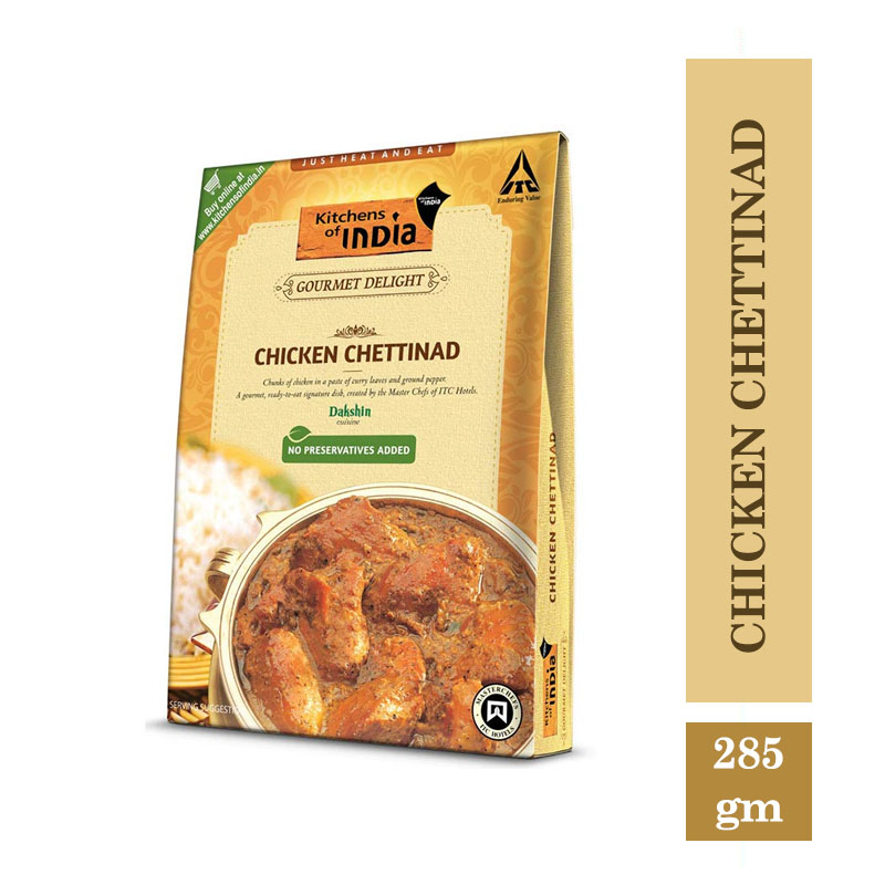 Ready to Cook & Eat, Kitchen's of India Ready to Eat - Chicken Chettinad (285gm)
