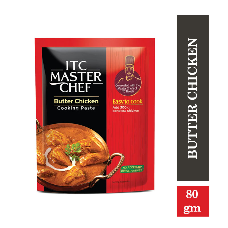 Ready to Cook & Eat, ITC Master Chef Cooking Paste - Butter Chicken - Ready to Cook Indian Paste - 80gm