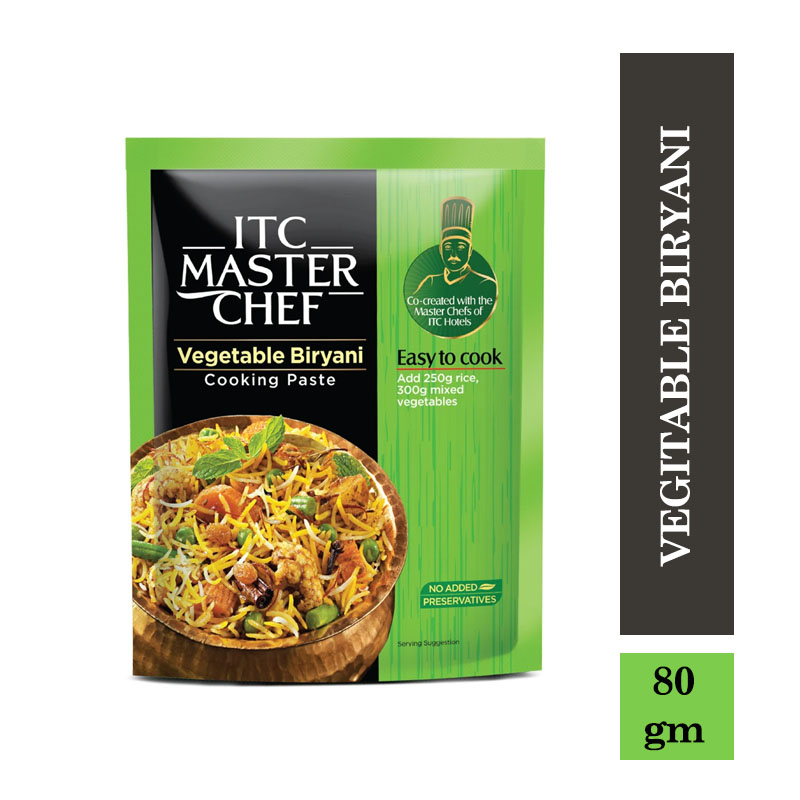 Ready to Cook & Eat, ITC Master Chef Cooking Paste - Vegitable Biryani - Ready to Cook Indian Paste - 80gm