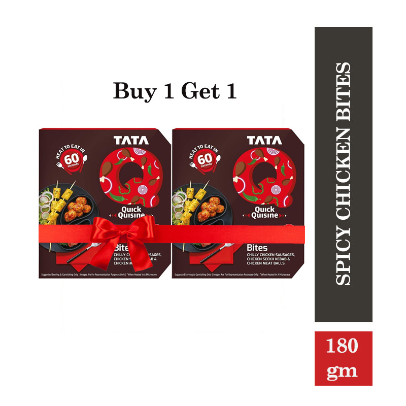 Combo Offers, TATA Q Spicy Chicken Bites - 180 gm(Buy 1 Get 1 Free)