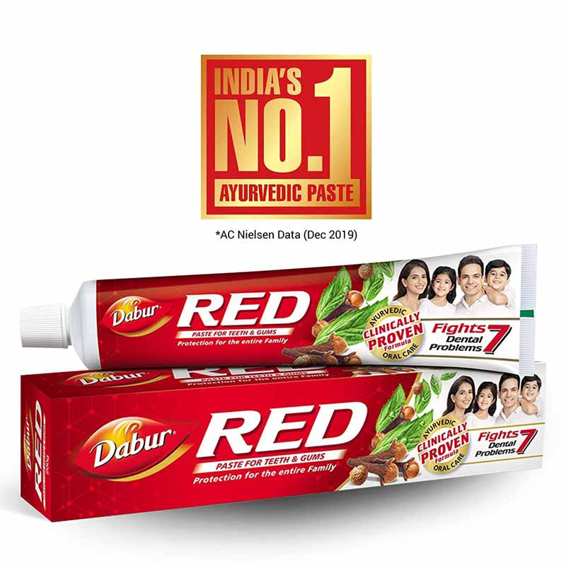 Dabur Red Toothpaste - 200Gm (Free School Kit)