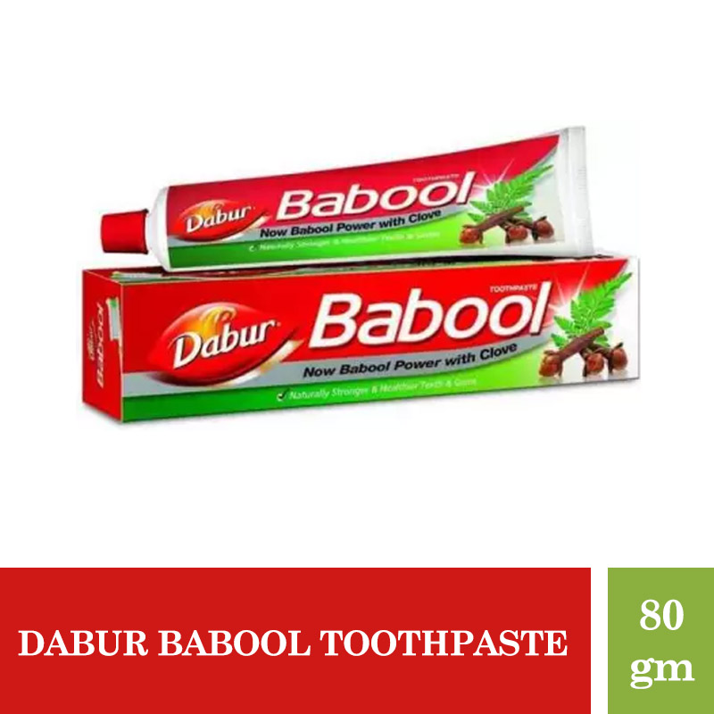 Oral Care, Dabur Babool Toothpaste- 80Gm (Get 25% Extra)