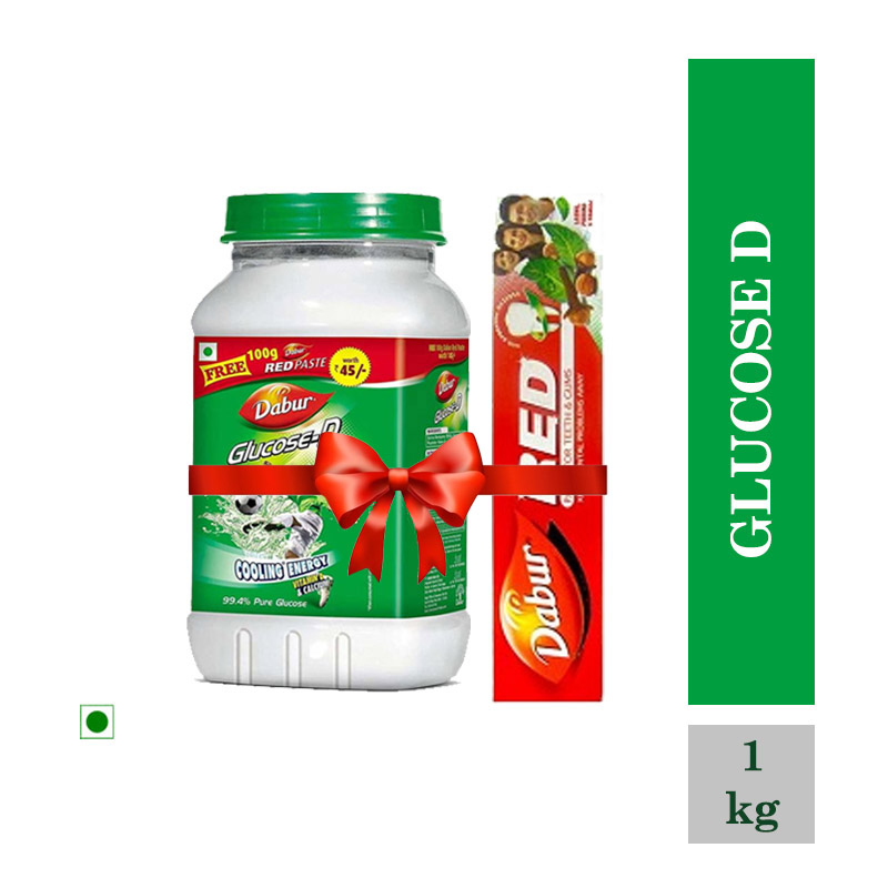 Health Drinks, Glucose D - 1Kg (Free Dabur Red Paste 200gm)