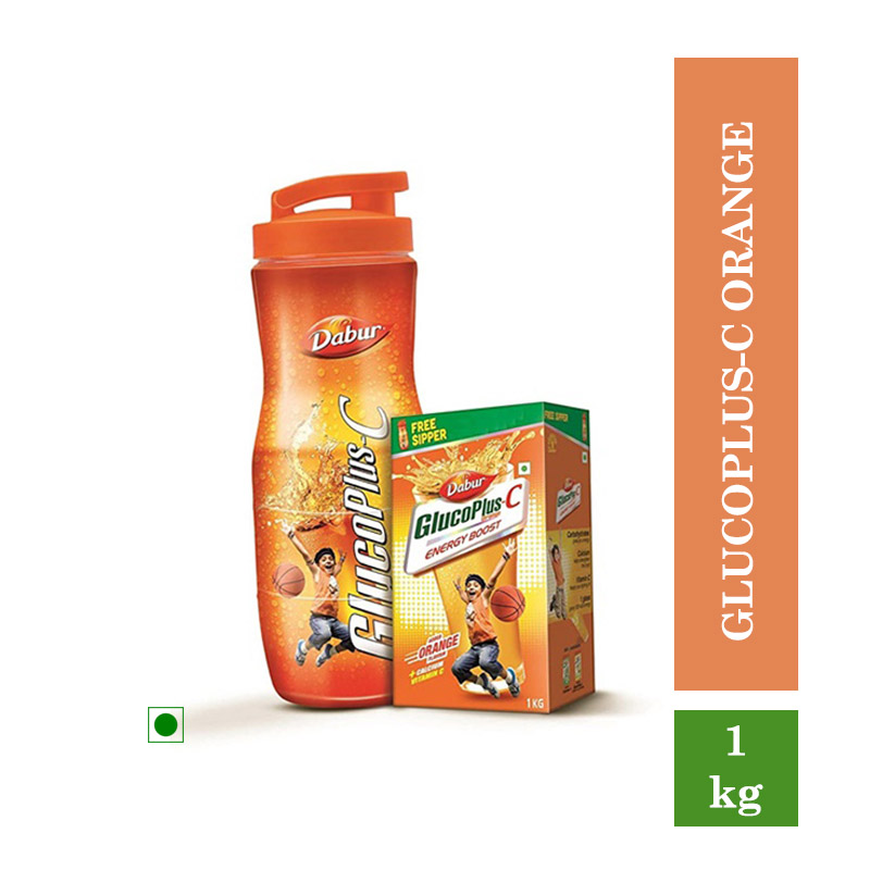 Health Drinks, New Glucoplus-C Orange - 1Kg (Free Sipper Rs.140/-)