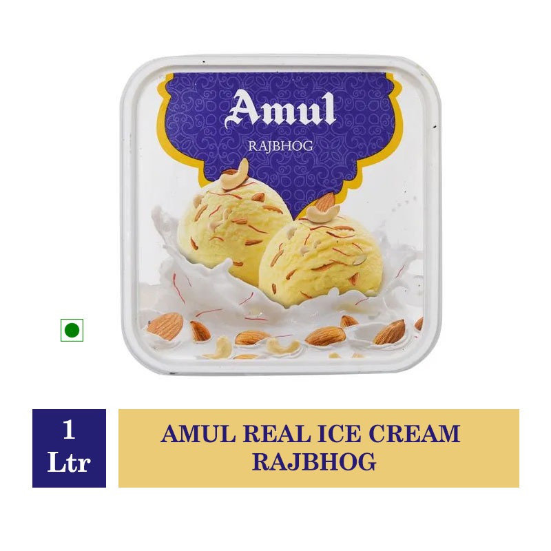 Amul Real Ice Cream Rajbhog - 1 Ltr