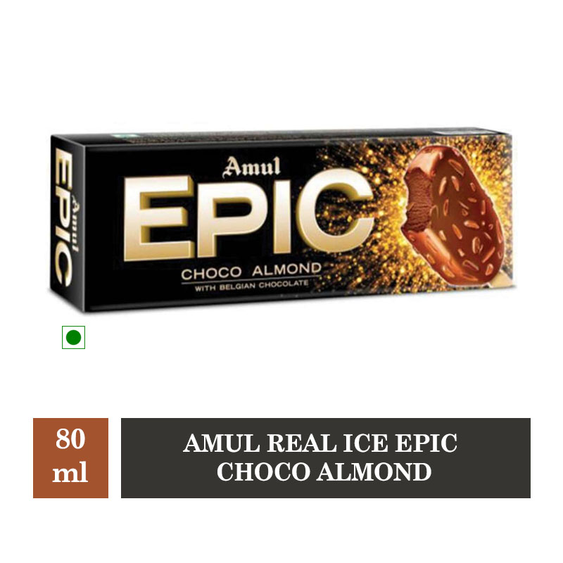 Amul Real Ice Epic Choco Almond - 80ml