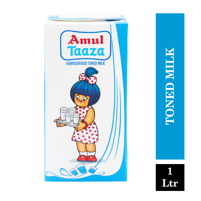 Amul Taaza Fresh Toned Milk - 1Ltr