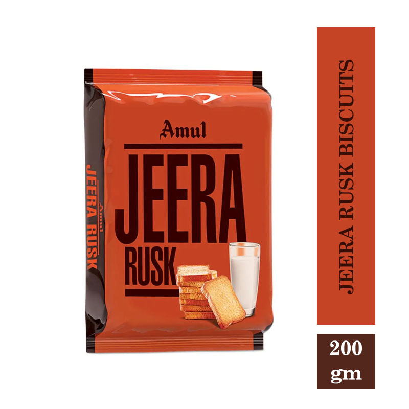Amul Jeera Rusk Biscuits 200gm