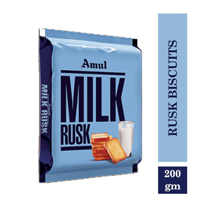 Amul Milk Rusk Biscuits 200gm