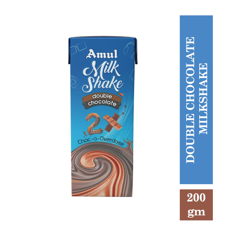 Amul Double Chocolate Milkshake 180ml