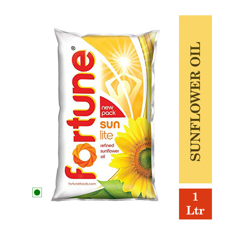 Fortune Sunlite Refined Sunflower Oil (Pouch) - 1Ltr