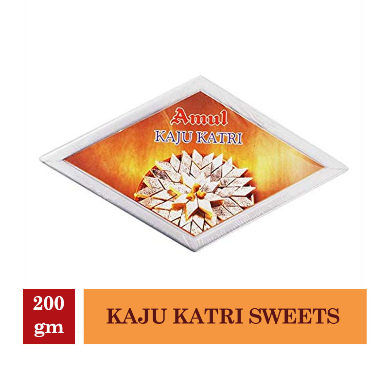 Indian Mithai, Amul Kaju Katri Sweets - 200gm