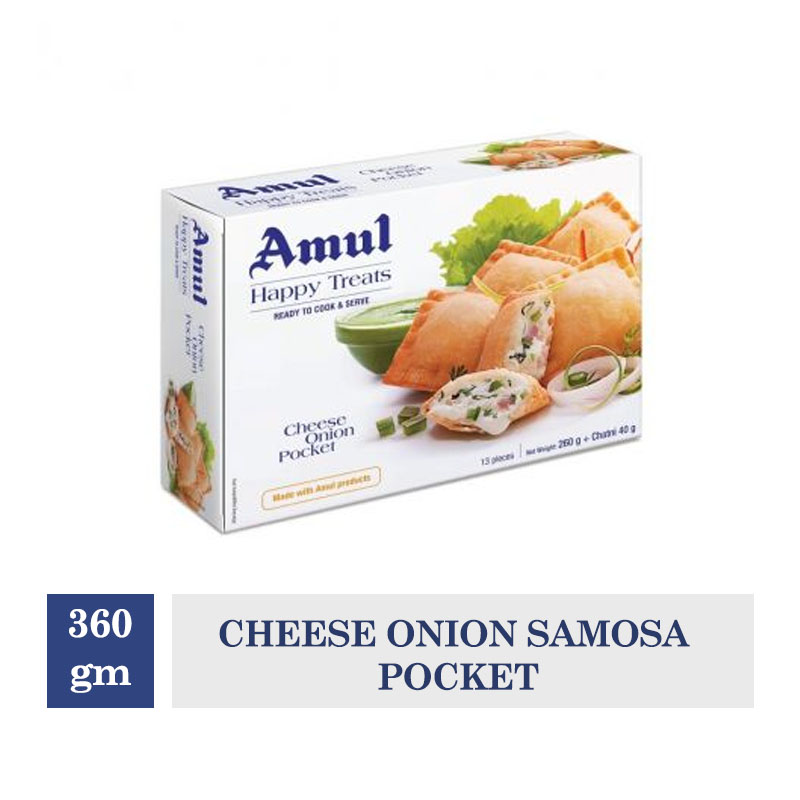 Amul Happy Treats Cheese Onion Samosa Pocket - 360gm
