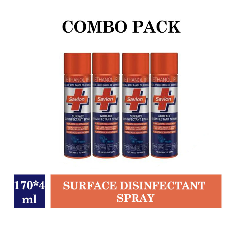 Savlon Surface Disinfectant Spray - 170ml (Pack of 4)