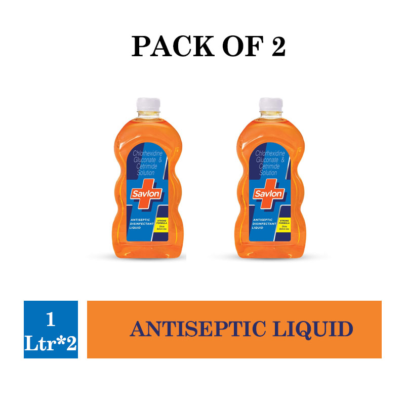 Savlon Antiseptic Liquid - 1Ltr (Pack of 2)