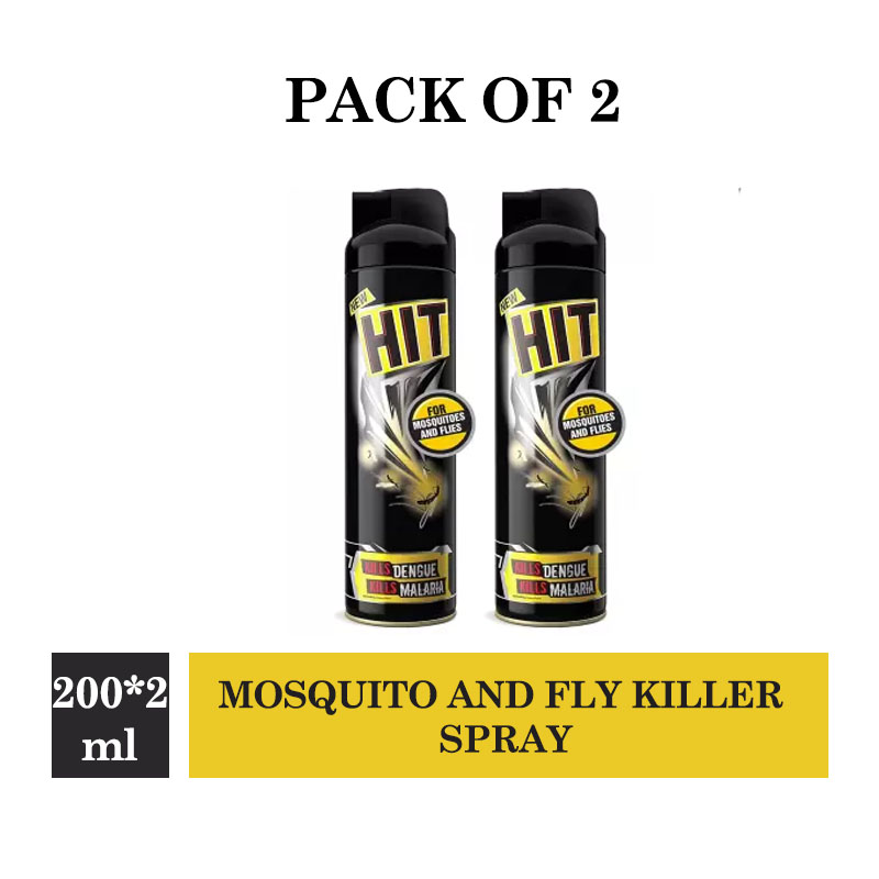 Godrej Kala Hit - Mosquito and Fly Killer Spray (200ml) (Pack of 2)