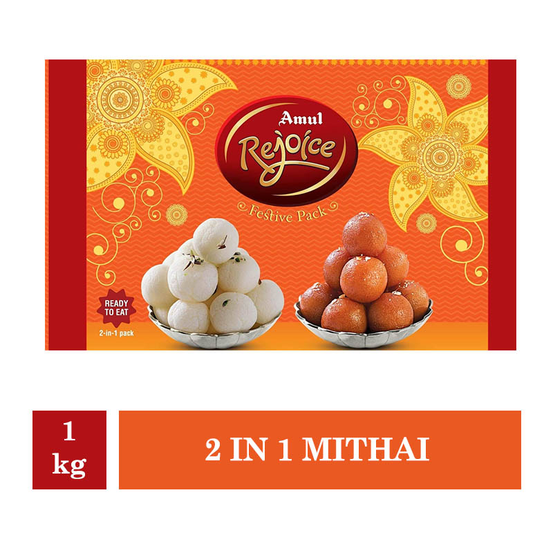 Indian Mithai, Amul Rejoice 2 in 1 Mithai - 1kg