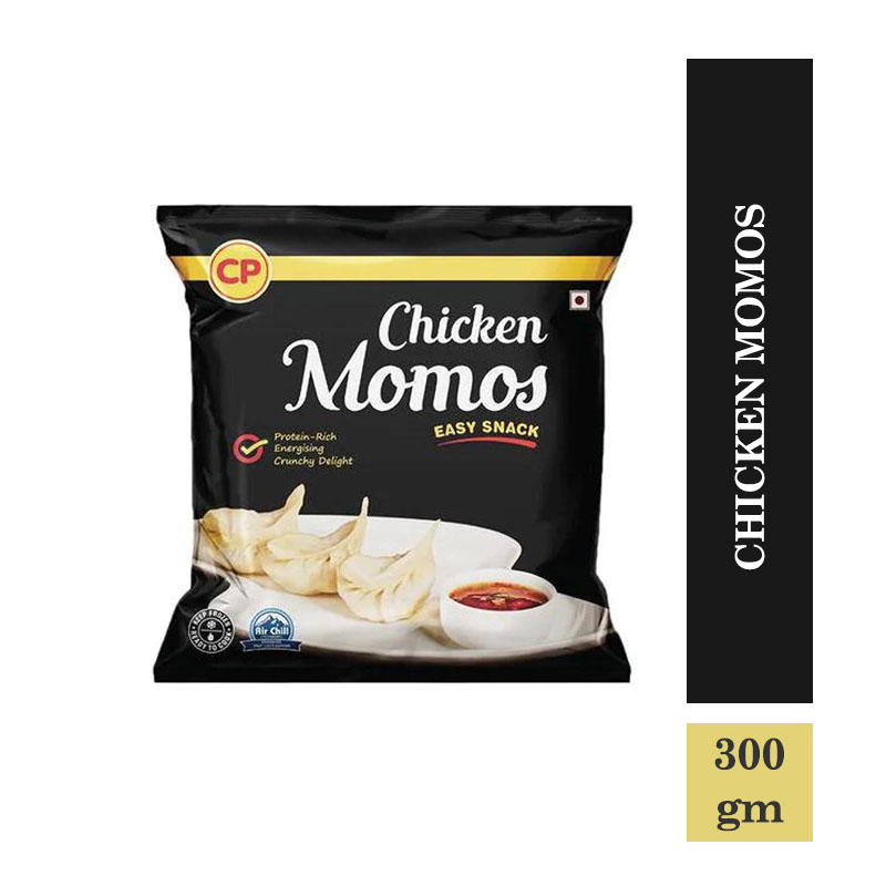 Frozen Veggies & Snacks, CP Easy Snack Chicken Momos - 300gm