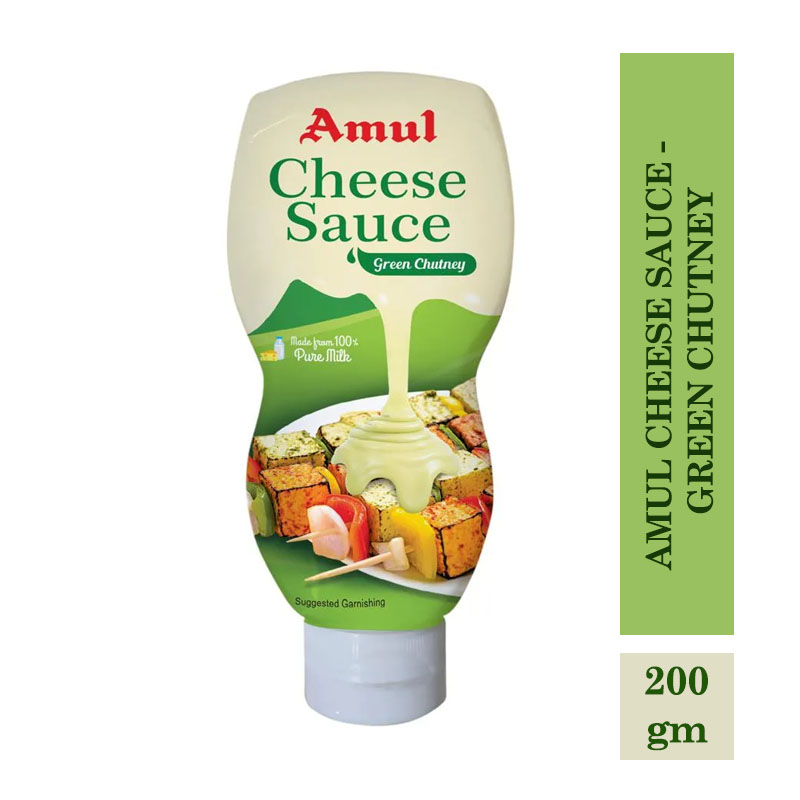 Amul Cheese Sauce - Green Chutney - 200gm
