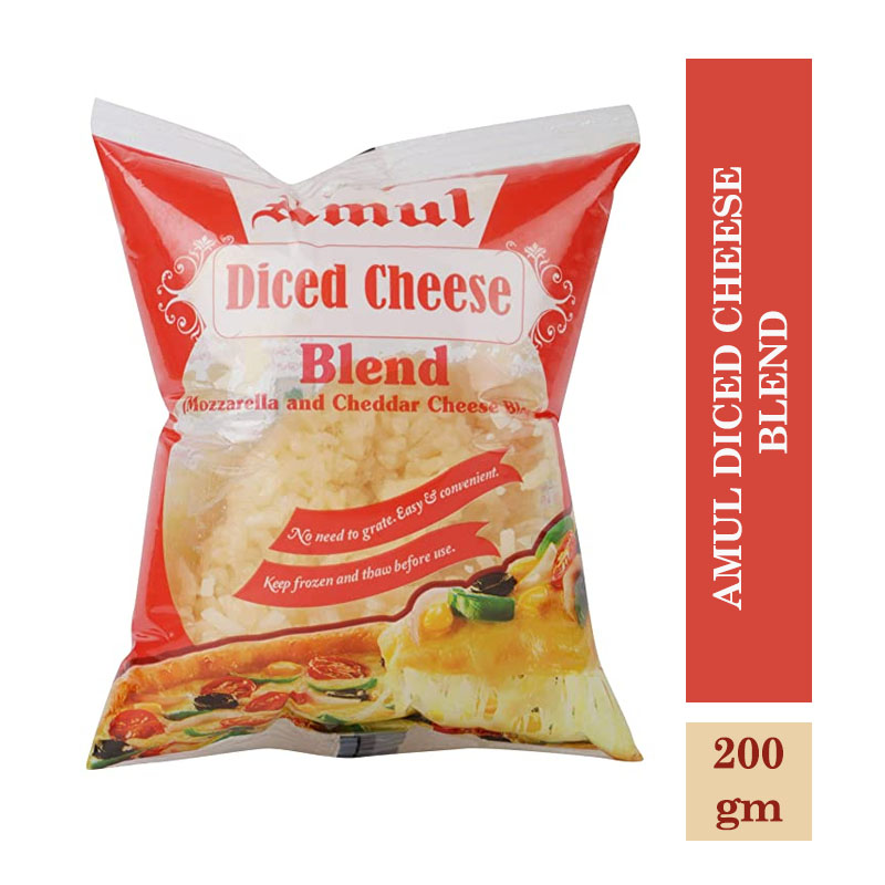 Dairy, Amul Diced Cheese Blend - 200gm