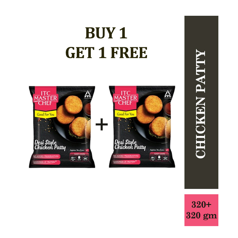 ITC Master Chef Chicken Patty - Desi Style - 330gm (Buy 1 Get 1 Free)