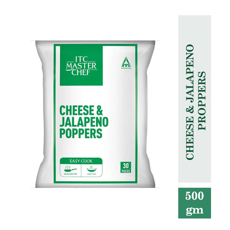 Frozen Snacks, ITC Master Chef Cheese & Jalapeno Proppers - 500gm