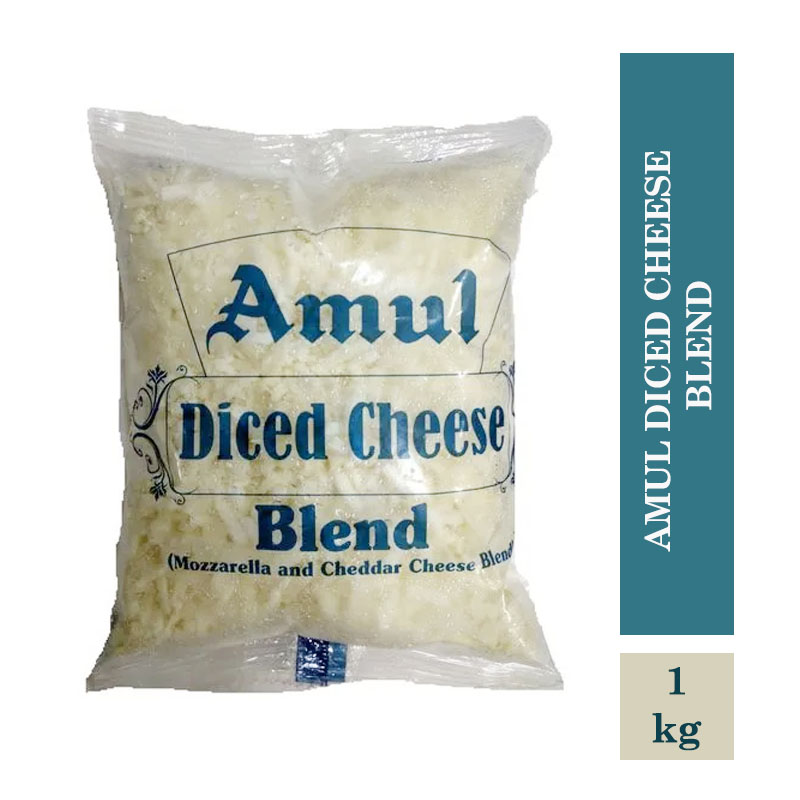 Dairy, Amul Diced Cheese Blend - 1Kg