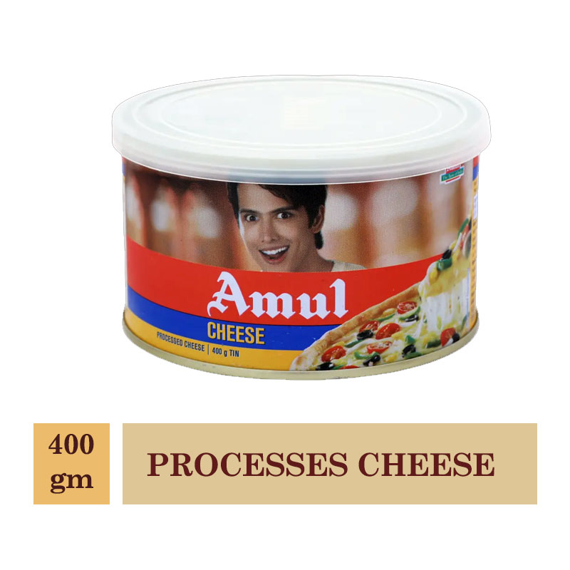 Dairy, Amul Processes Cheese - 400gm TIN