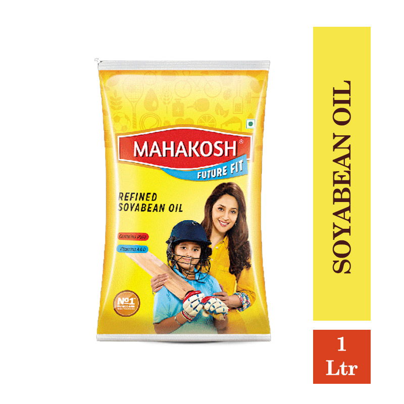 TOP Household Products, Mahakosh Refined Soyabean Oil - 1Ltr