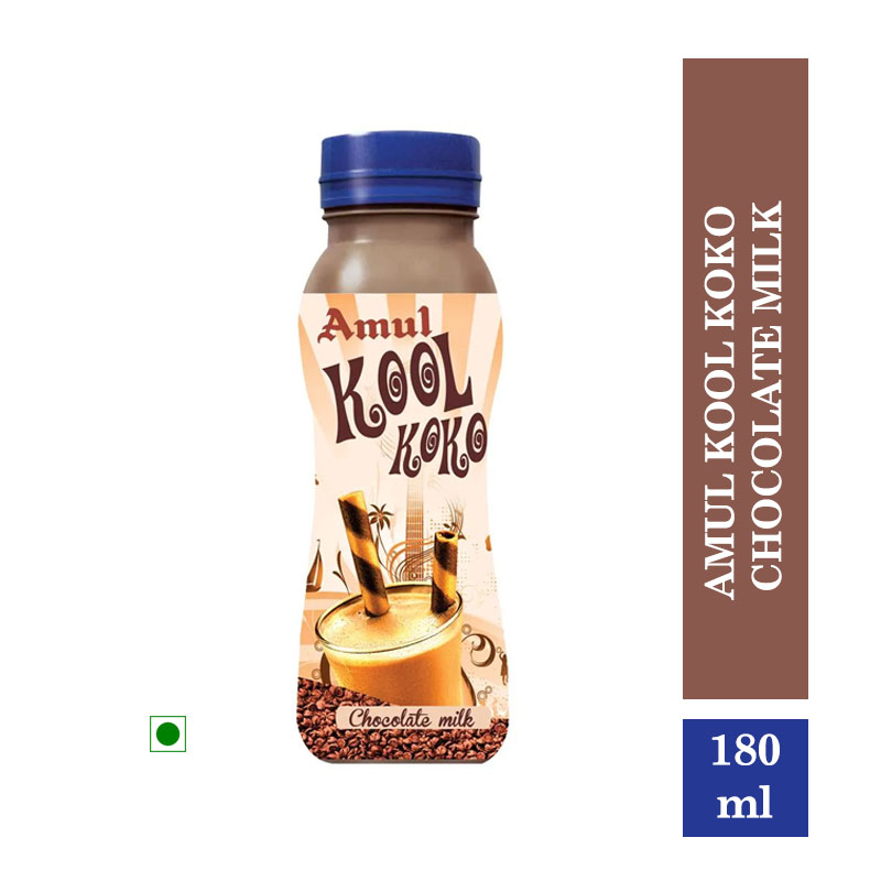 Amul Kool Koko Chocolate Milk, 180 ml Pet Bottle