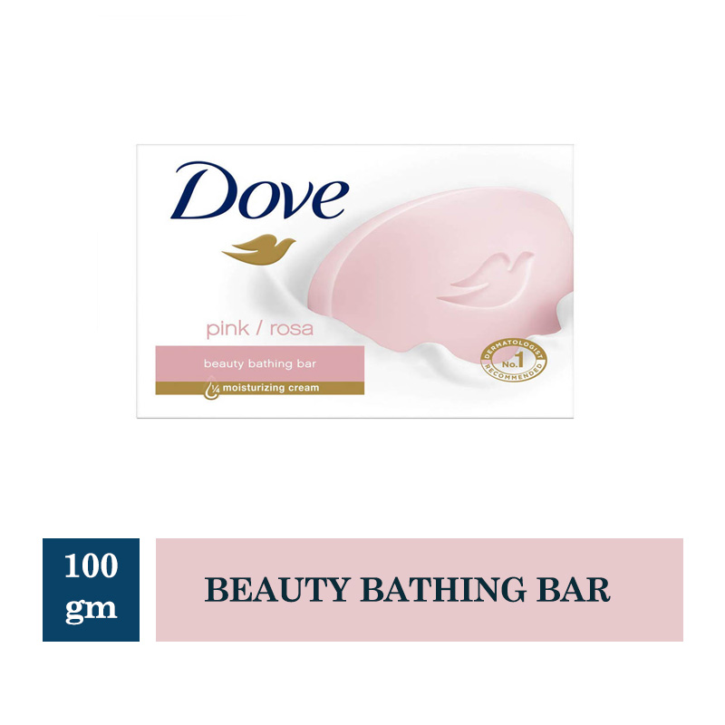 Bathing Bars & Soaps, Dove Pink Rosa Beauty Bathing Bar - 100gm