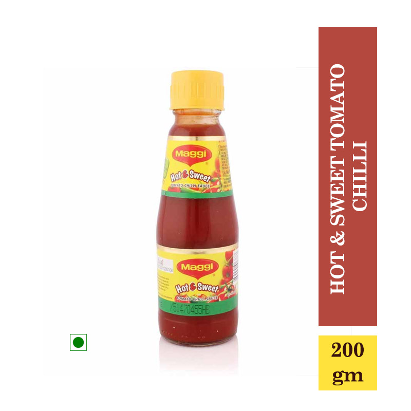 TOP Household Products, Maggi Sauce - Hot & Sweet Tomato Chilli Bottle - 200gm