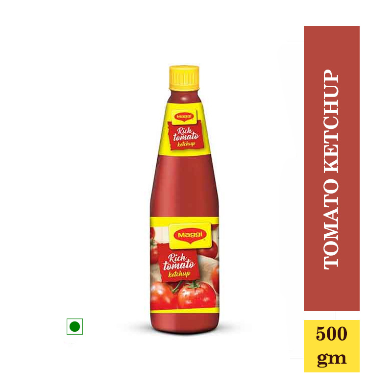 Maggi Tomato Ketchup Bottle - 500gm (Rs.7/- Off)