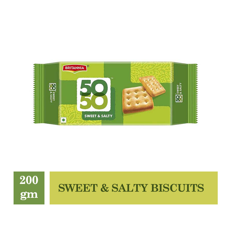 Britannia 50-50 Sweet & Salty Biscuits - 200gm