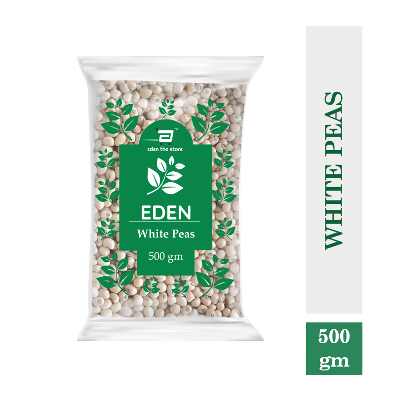 Dals & Pulses, White Peas Whole Premium 500Gm