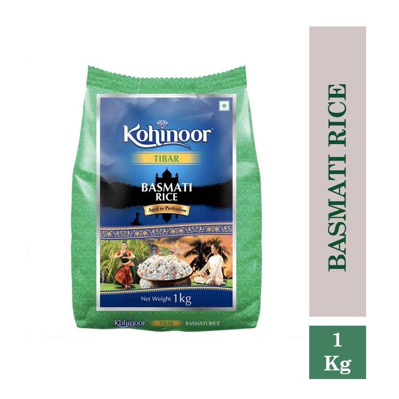 Rice & Rice Products, Kohinoor Tibar Basmati Rice 1Kg Pouch