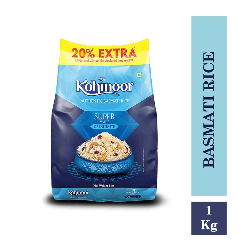Kohinoor Super Value Basmati Rice 1Kg Pouch