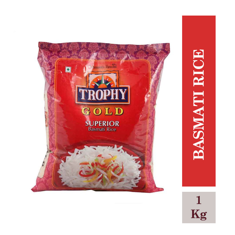 Rice & Rice Products, Kohinoor Trophy Basmati Rice 1Kg Pouch