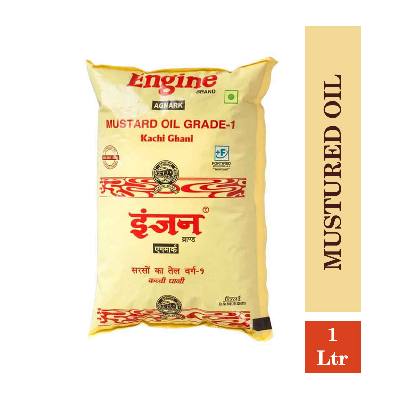Edible Oils & Ghee, Engine Mustured Oil 1Ltr Pouch