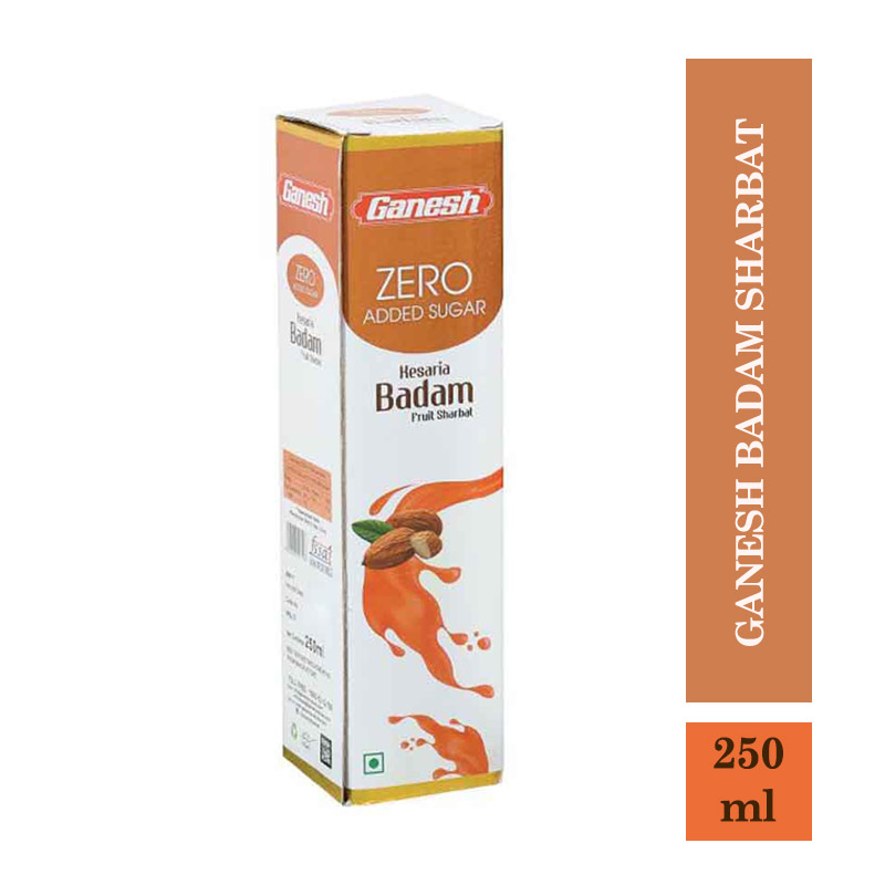 Ganesh Badam Sharbat Zero Added Sugar - 250Ml