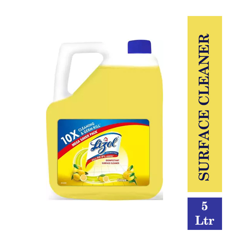 Lizol Disinfectant Surface Cleaner Citrus - 5Ltr