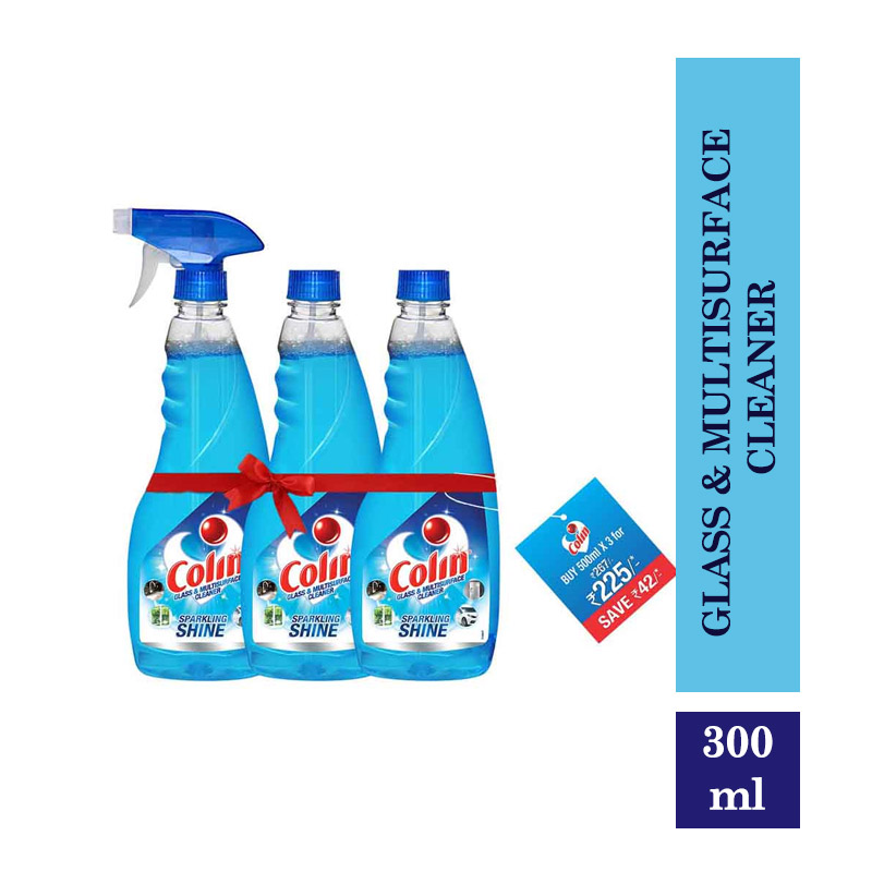Colin Glass & Multisurface Cleaner - 500Ml (Pack Of 3)