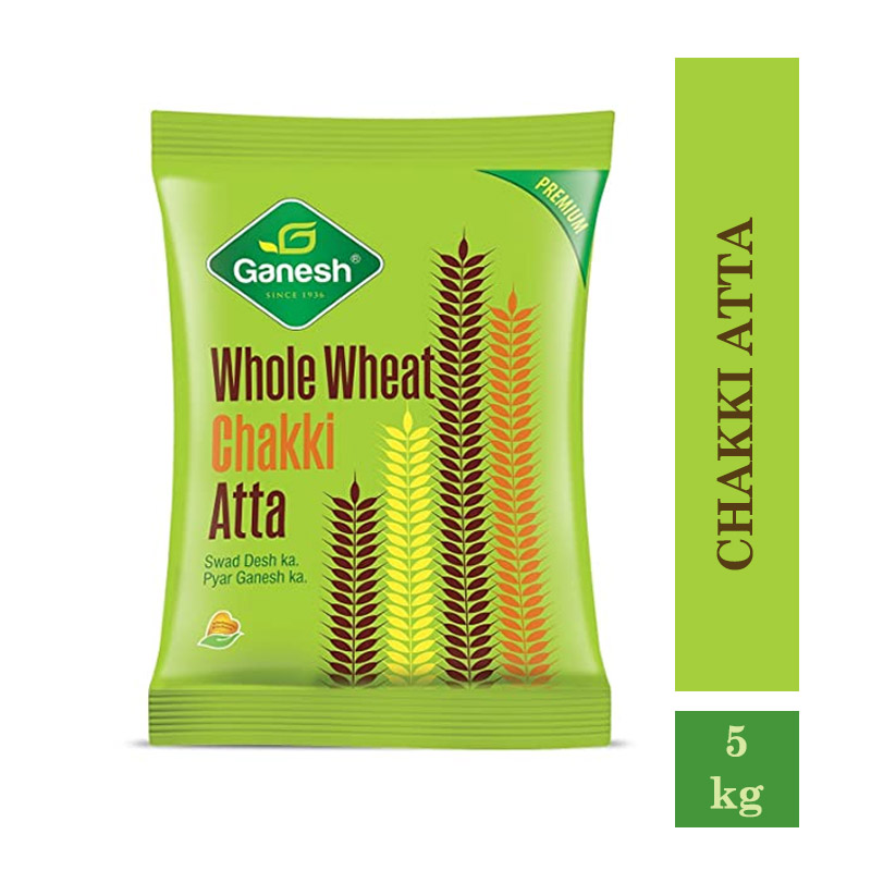 Ganesh Whole Wheat Chakki Atta- 5kg