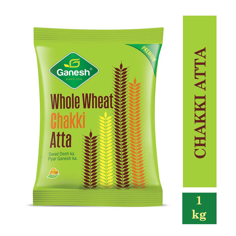 Ganesh Whole Wheat Chakki Atta- 1kg