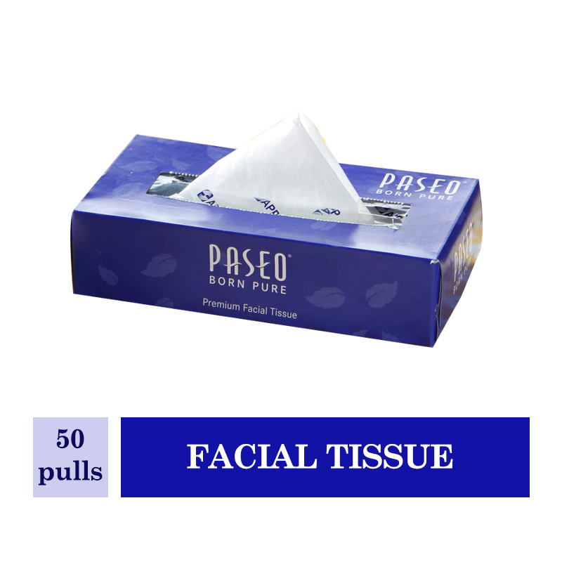 Paseo Facial Tissue Box 50 Pulls