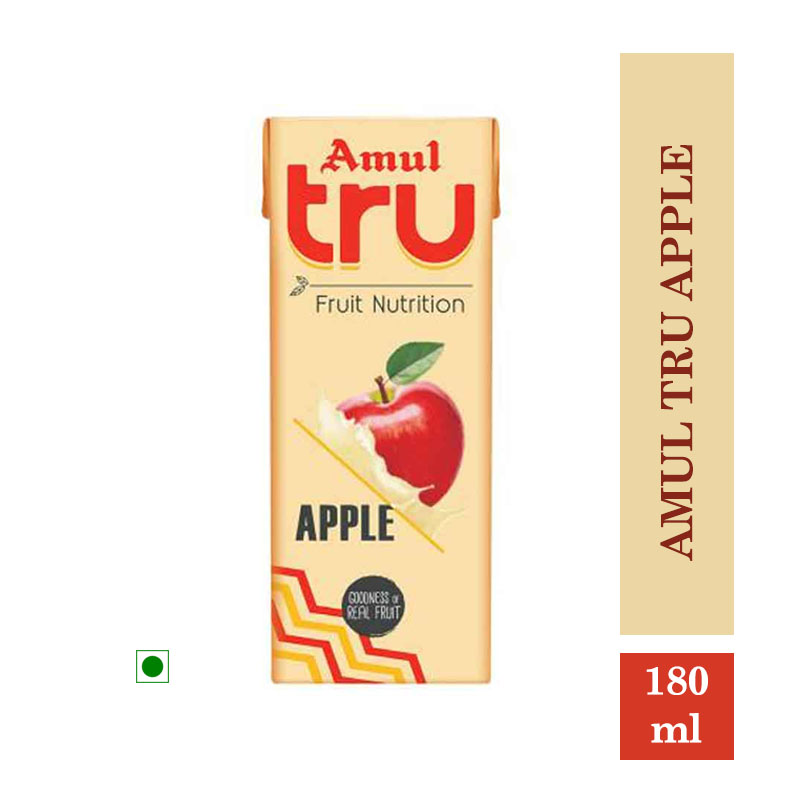 Amul Tru Apple - 180ml (Pack of 5Pcs)