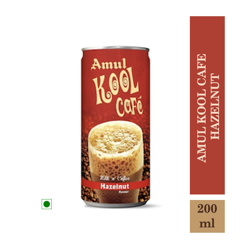 Amul Kool Cafe Hazelnut - 200ml Can