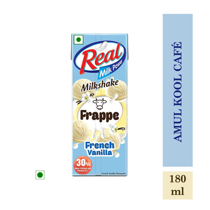 Milk Shakes, Real Milkshake Frappe French Vanilla - 180ml
